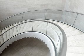 white staircase at the Mudam Museum