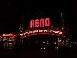 signboard in lights in nevada