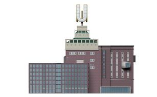 Dortmund U Cathedral building 3D