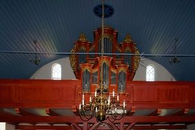 palatial church organ in Germany