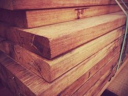wooden boards for construction