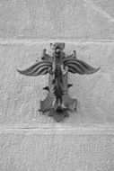 decoration on the wall of the building