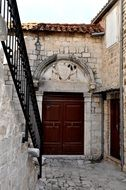 historic street in the city of Trogir in croatia