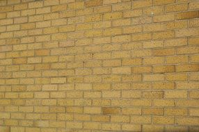 yellow brick wall structure