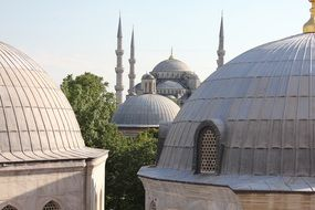 mosque domes in istanbul