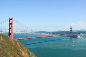 historic golden gate bridge in san francisco