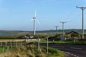 wind turbine energy farm landscape