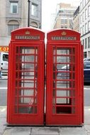 two phone red booths