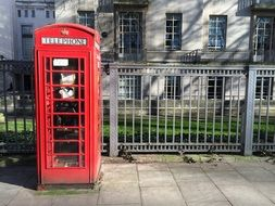 outdoor telephone booth in London