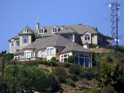luxury house on the hill