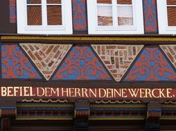 drawings on the house in Lower Saxony