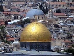 photo of the golden dome of the temple in Jerusalem