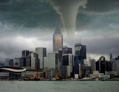 Tornado in the city