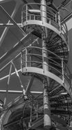 Spiral Staircase Black And White photo