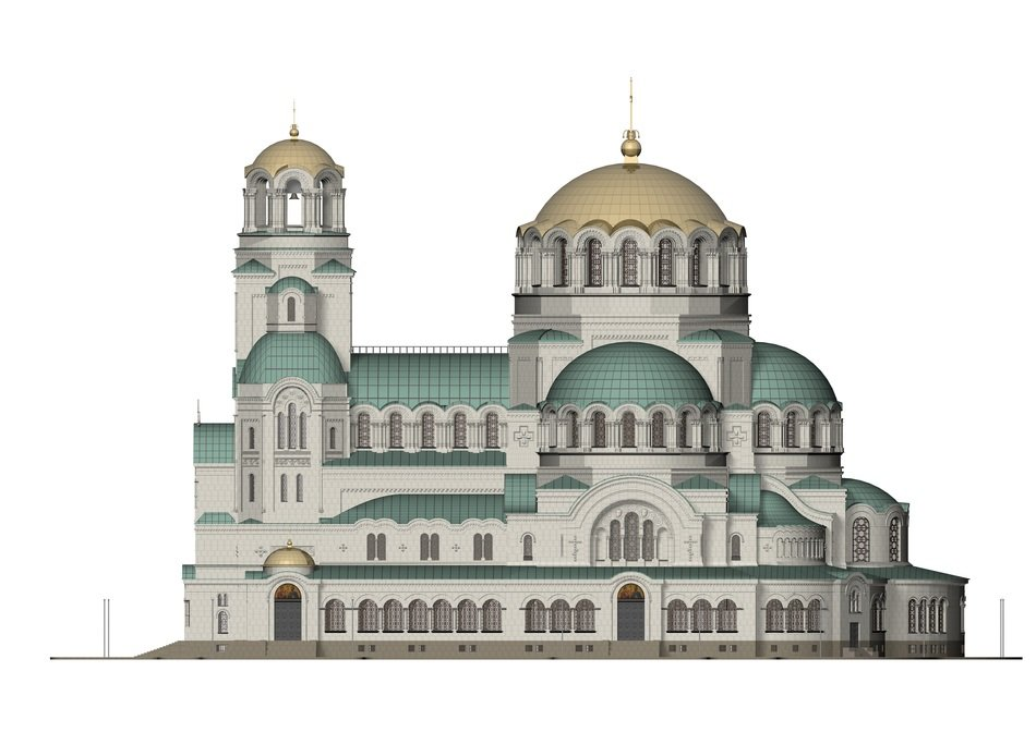 Alexander Nevsky church facade