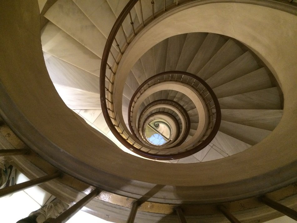 spiral staircase in a building in barcelona
