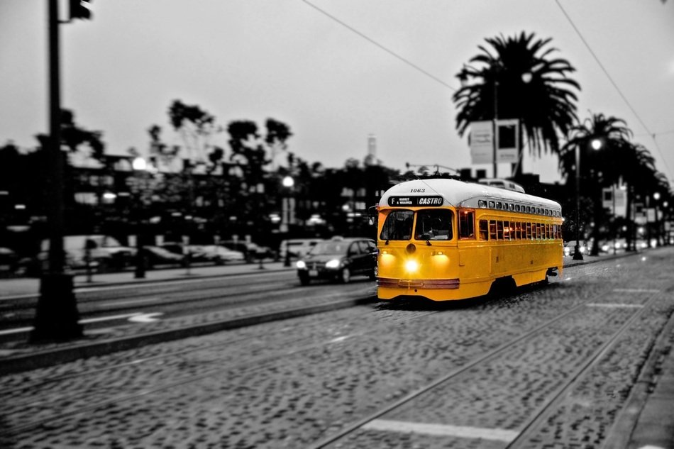 yellow Tram, San Francisco