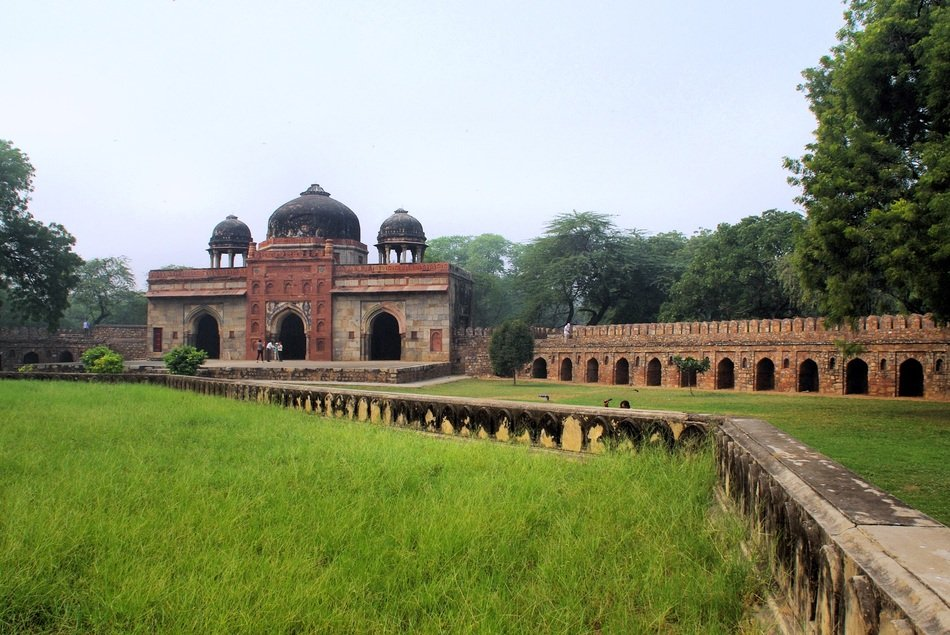 distant view of ancient tombs in delhi