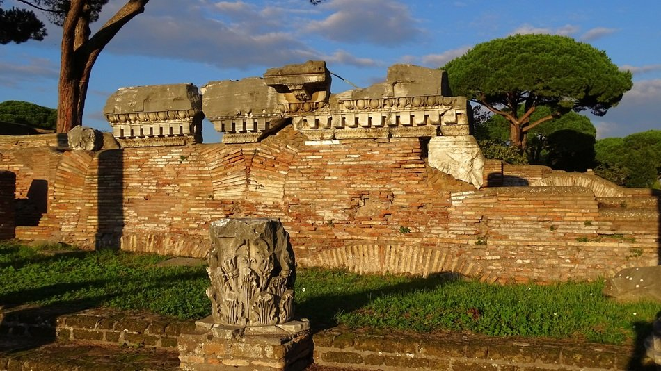 picturesque ancient ruins, italy, ostia