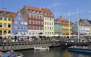 colored houses on the waterfront in copenhagen