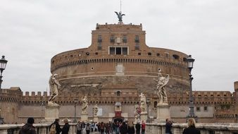 Medieval Castel Sant\'angelo in Rome