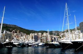 yachts in the port on the Mediterranean