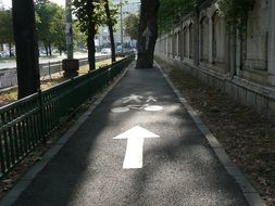 Bicycle paved path