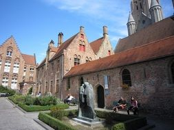 historic buildings in Bruges, Belgium