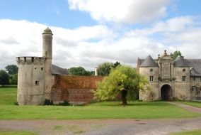 castle with tower in the manor