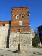 tower in the old city of krakow