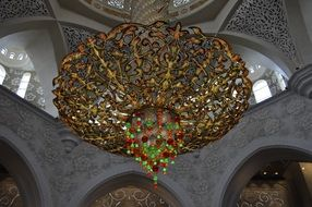 luxurious chandelier of grand mosque