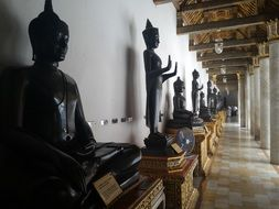 buddha statues in Thai temple