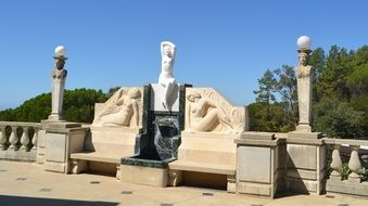 sculptures near Hearst Castle