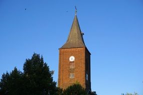 church tower with a spire