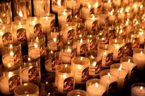 Rouen Cathedral candles France