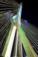 Bridge Suspended On Cables night photo