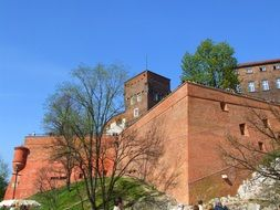 castle with tower in krakow