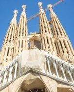 Sagrada Familia Cathedral low angle view