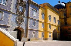 multi-colored fortress in portugal