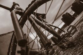 bicycle sepia