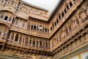 palace of maharaja with yellow sandstone