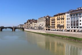 landscape of overwater bridge in Florence