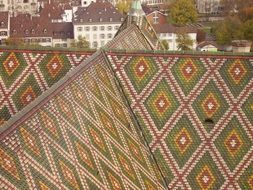colorful roof on a church