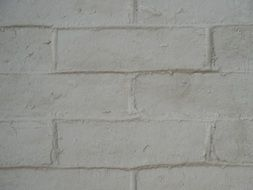 white brick house wall