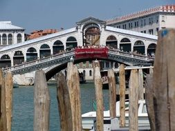bridge on the canal in venice
