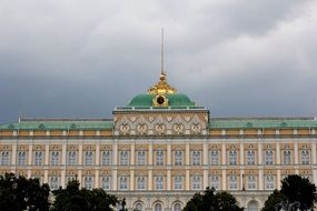 facade of the famous building in Moscow