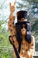 Rock Star Wood Sculpture