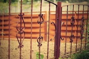 old metal fence