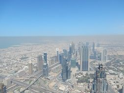 view of modern dubai from a height