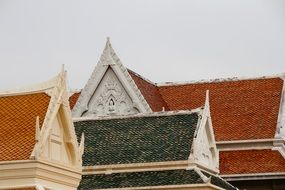 Thailand temple roof architecture